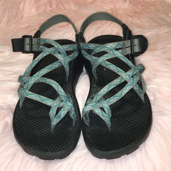 Chaco Shoes - Chaco Women s Strappy Sports Sandals Teal Gray 121fcd2399